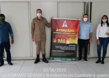 Secretaria de Meio Ambiente (SEMMAS) realiza parceria com Sedam e Bombeiros para evitar queimadas