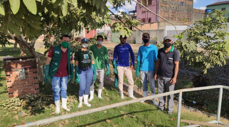 Secretaria de Meio Ambiente realiza a Limpeza no Rio (canal dos cidadãos) em Buritis