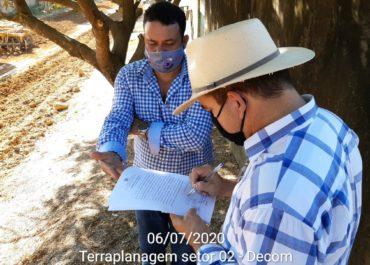 Prefeitura inicia serviços de terraplanagem para pavimentação em calçamento com bloco sextavado