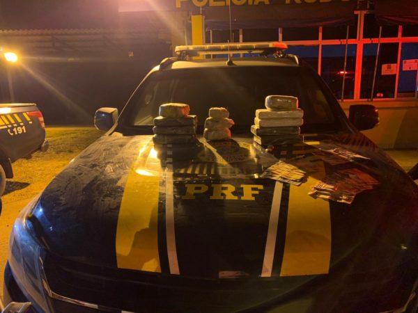 PRF prende casal motociclista transportando mais de 10 kg de cocaína