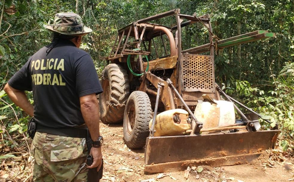 Operação de combate à crimes ambientais é realizada em terra indígena