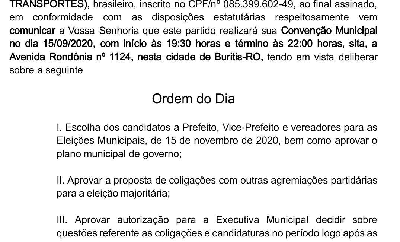 Convenção PTB 15/09/2020