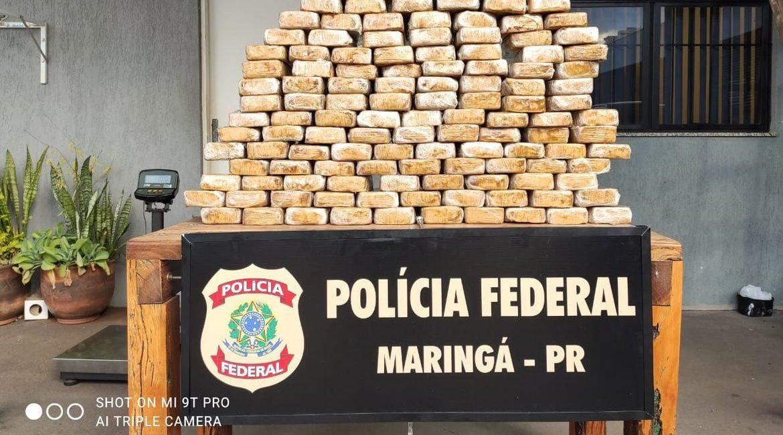 PF apreende 154 kg de crack em caminhão que teria saído de Ponta Porã