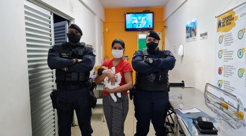 BURITIS: POLÍCIA MILITAR SALVA VIDA DE BEBÊ RECÉM NASCIDO