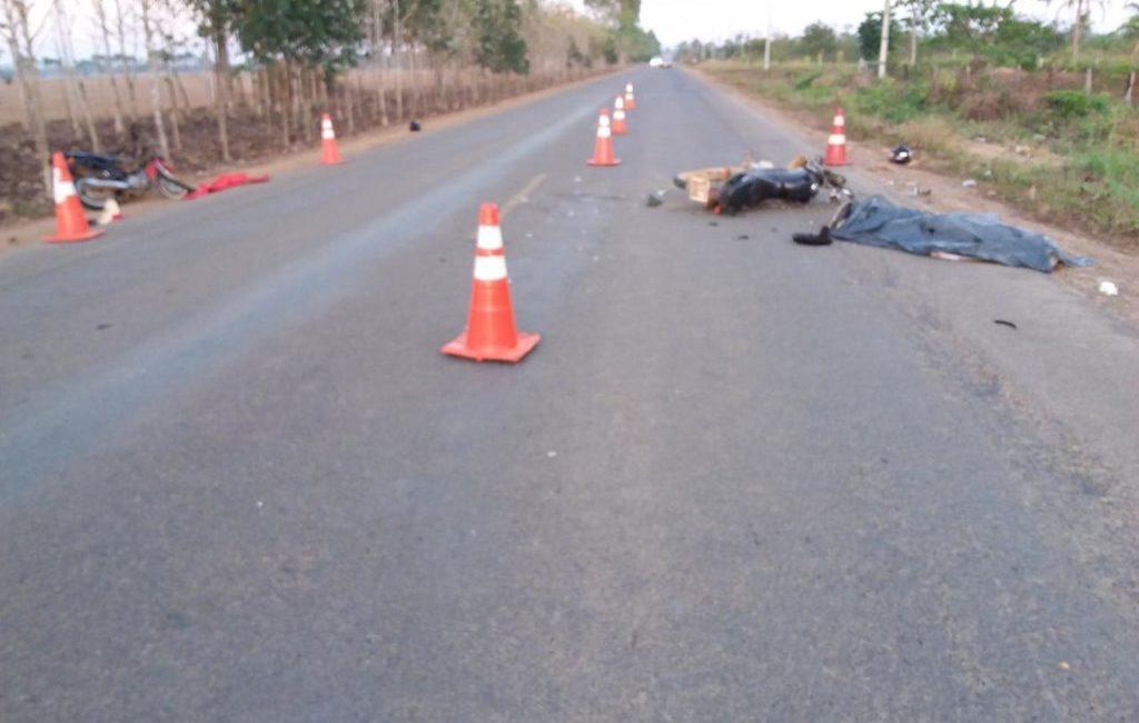 Acidente entre motos deixa um morto e três feridos na RO-133